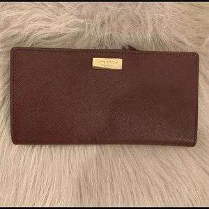 Kate Spade Cameron St Stacy Large Wallet- Maroon